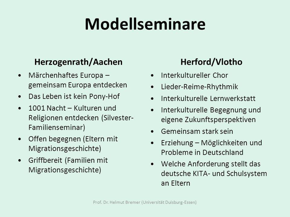 Modellseminare Herzogenrath/Aachen Märchenhaftes Europa – gemeinsam Europa entdecken Das Leben ist kein Pony-Hof 1001 Nacht – Kulturen und Religionen