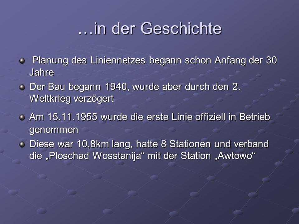 …in der Geschichte Planung des Liniennetzes begann schon Anfang der 30 Jahre Planung des Liniennetzes begann schon Anfang der 30 Jahre Der Bau begann