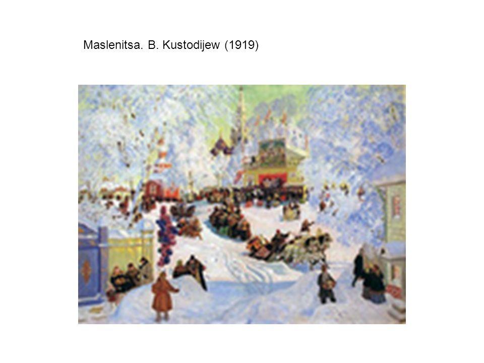 Boris Kustodiew, Maslenitsa, 1916