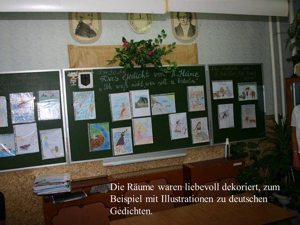 Die Räume waren liebevoll dekoriert, zum Beispiel mit Illustrationen zu deutschen Gedichten.