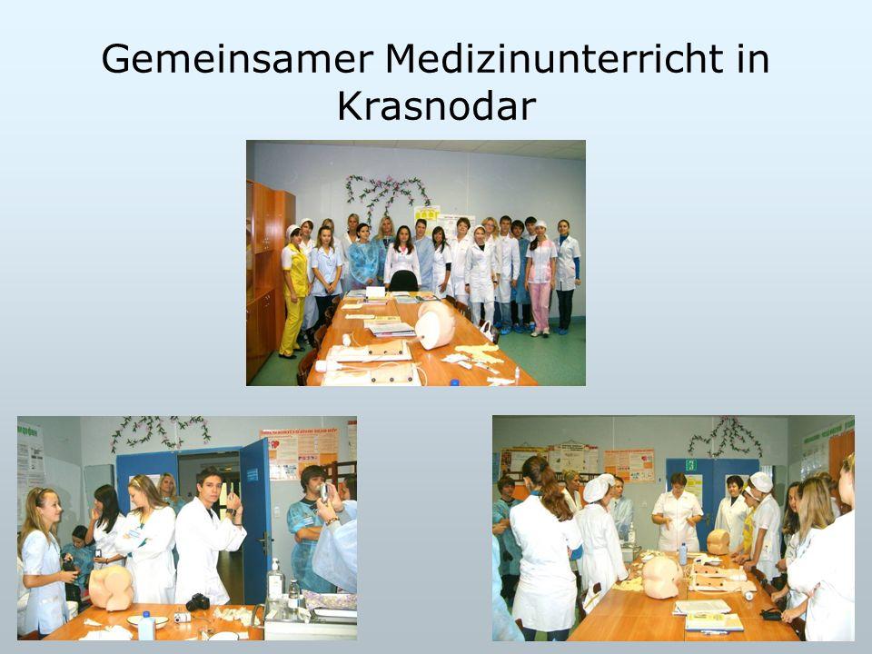 Gemeinsamer Medizinunterricht in Krasnodar