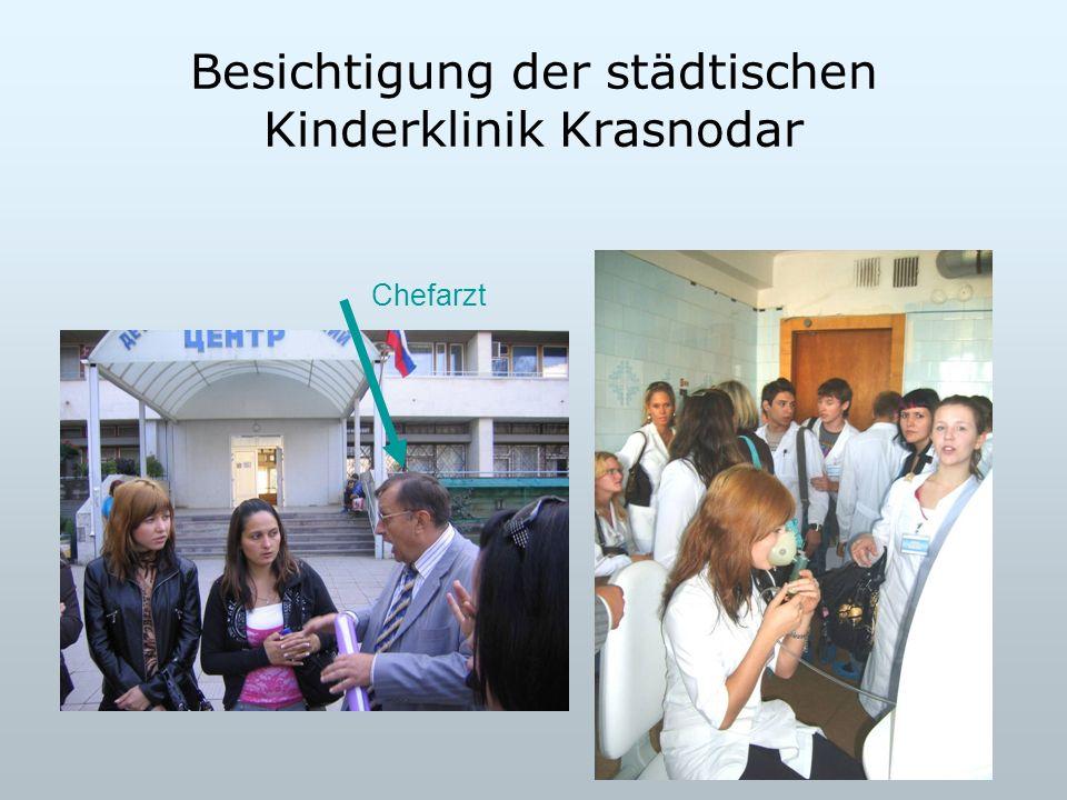 Besichtigung der städtischen Kinderklinik Krasnodar Chefarzt
