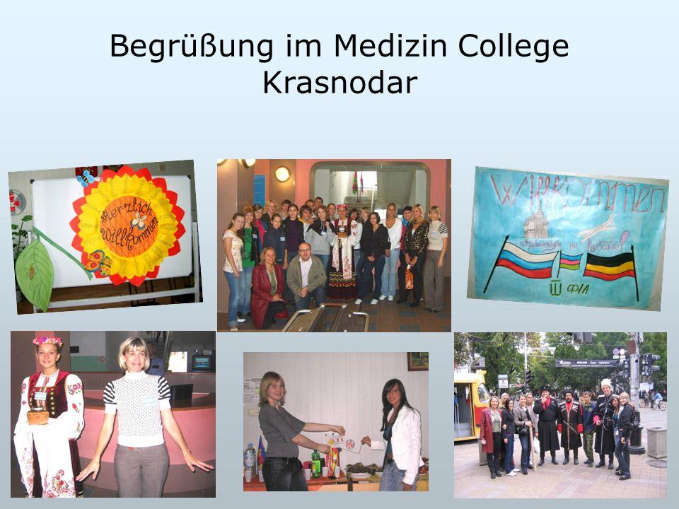 Begrüßung im Medizin College Krasnodar