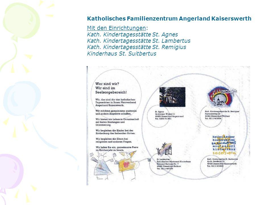 Katholisches Familienzentrum Lindlar Mit den Einrichtungen: Kath.