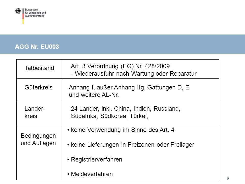 6 Tatbestand Güterkreis Länder- kreis Bedingungen und Auflagen Art.