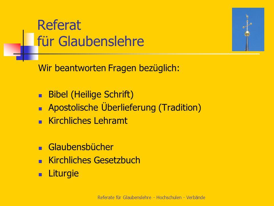Glaubenslehre Hochschulen Verbände Unsere Dienststelle im Bischöflichen Ordinariat Augsburg
