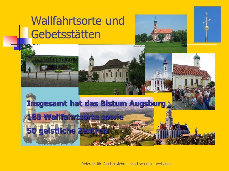 Referate für Glaubenslehre - Hochschulen - Verbände Referat für kirchliche Verbände und Initiativen von Gläubigen Ackermann-Gemeinde Betriebsseelsorge