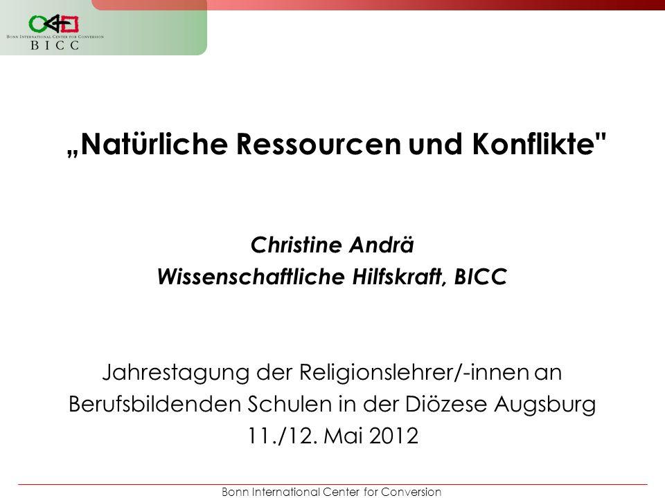 Bonn International Center for Conversion Natürliche Ressourcen und Konflikte