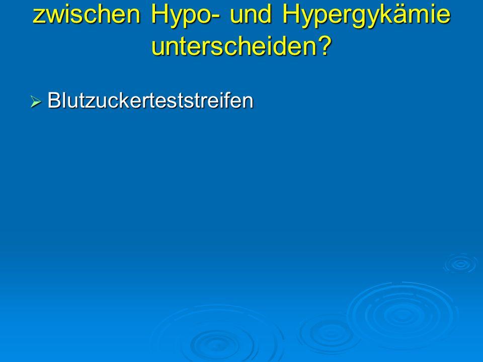 Wie können Sie zwischen zwischen Hypo- und Hypergykämie unterscheiden? Blutzuckerteststreifen Blutzuckerteststreifen