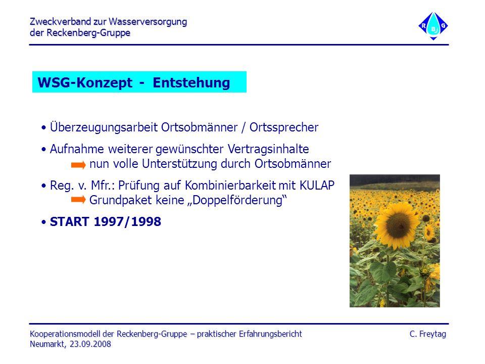 Zweckverband zur Wasserversorgung der Reckenberg-Gruppe Kooperationsmodell der Reckenberg-Gruppe – praktischer Erfahrungsbericht C. Freytag Neumarkt,
