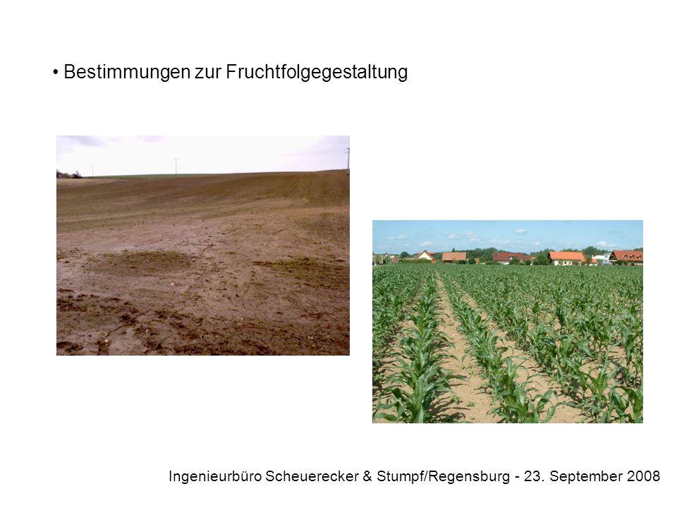 Mögliche Inhalte einer privatrechtlichen Vereinbarung Beschränkungen der Düngung Ingenieurbüro Scheuerecker & Stumpf/Regensburg - 23. September 2008