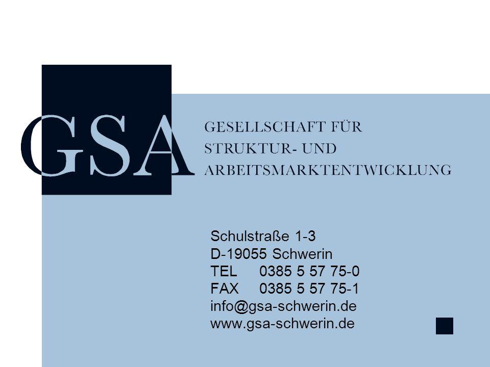 Schulstraße 1-3 D-19055 Schwerin TEL0385 5 57 75-0 FAX0385 5 57 75-1 info@gsa-schwerin.de www.gsa-schwerin.de