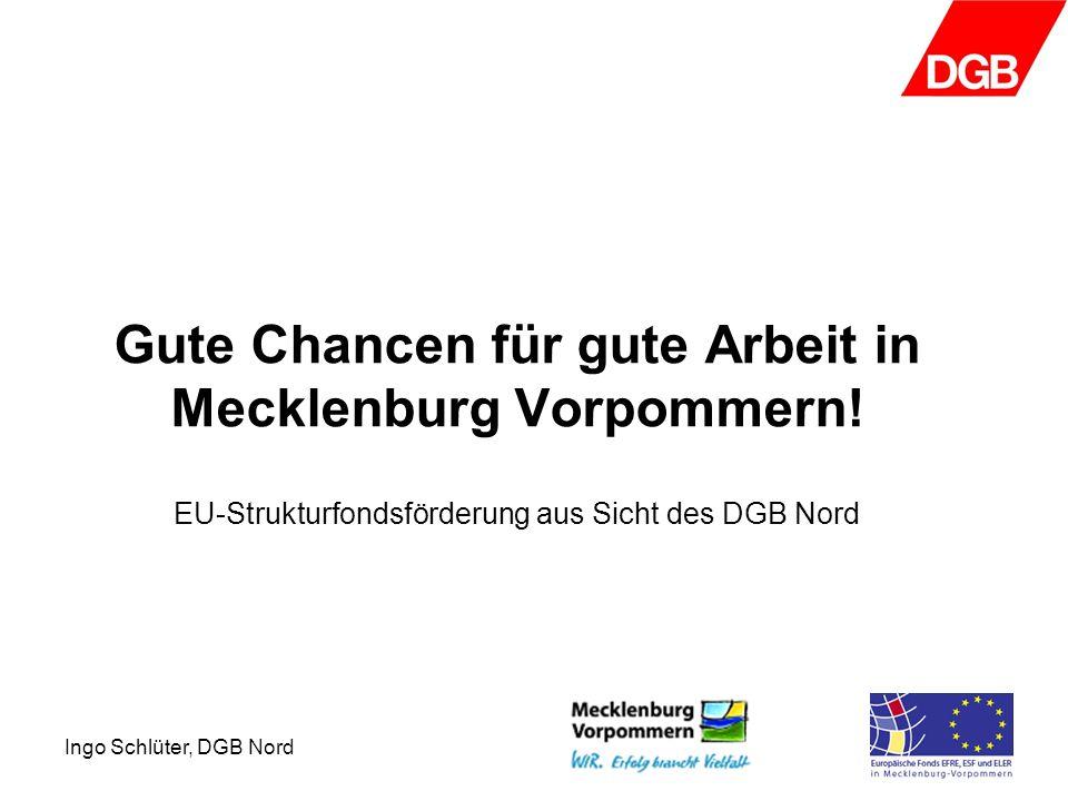 Ingo Schlüter, DGB Nord Gute Chancen für gute Arbeit in Mecklenburg Vorpommern.