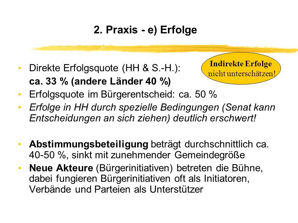 2. Praxis - d) Beispiele Hamburg HH-Harburg: gegen die Bebauung der Elfenwiese (Marmstorfer Neubaugebiet) HH-Wandsbek: Für Erhalt der Bücherhalle Sase