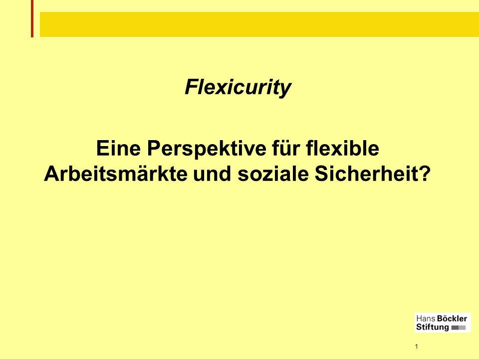 1 Flexicurity Eine Perspektive für flexible Arbeitsmärkte und soziale Sicherheit?