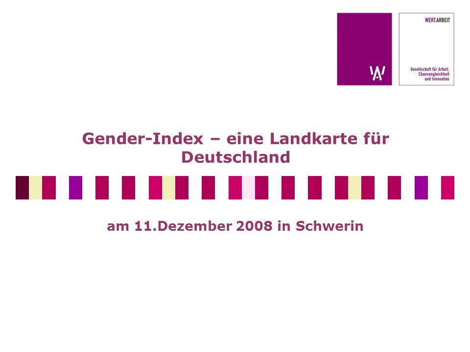 Gender-Index – eine Landkarte für Deutschland am 11.Dezember 2008 in Schwerin