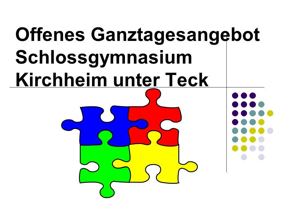 Offenes Ganztagesangebot Schlossgymnasium Kirchheim unter Teck
