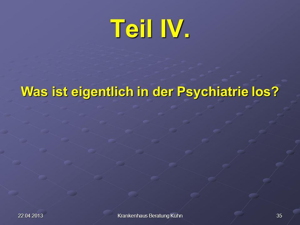 3522.04.2013Krankenhaus Beratung Kühn Teil IV. Was ist eigentlich in der Psychiatrie los?