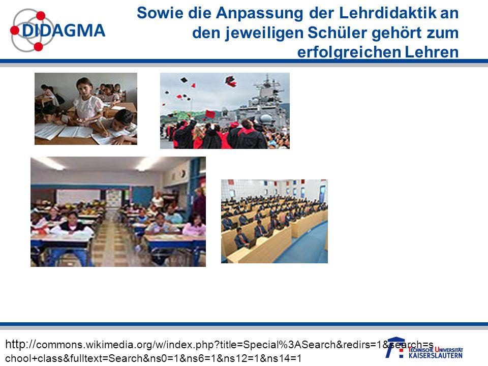 Sowie die Anpassung der Lehrdidaktik an den jeweiligen Schüler gehört zum erfolgreichen Lehren http:// commons.wikimedia.org/w/index.php?title=Special