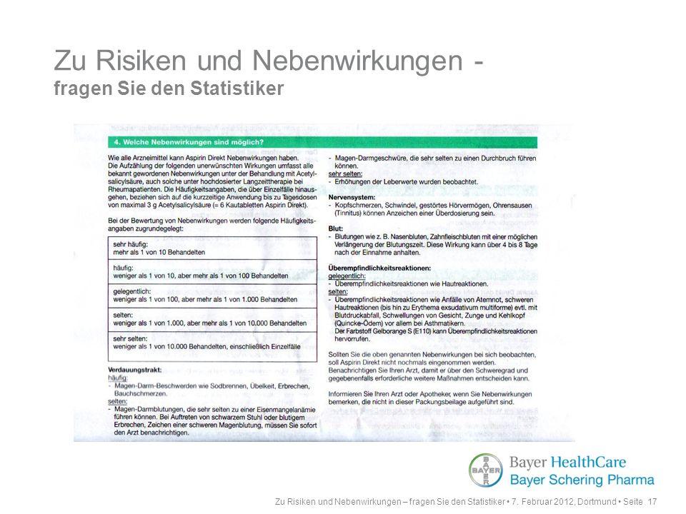 Zu Risiken und Nebenwirkungen – fragen Sie den Statistiker 7.
