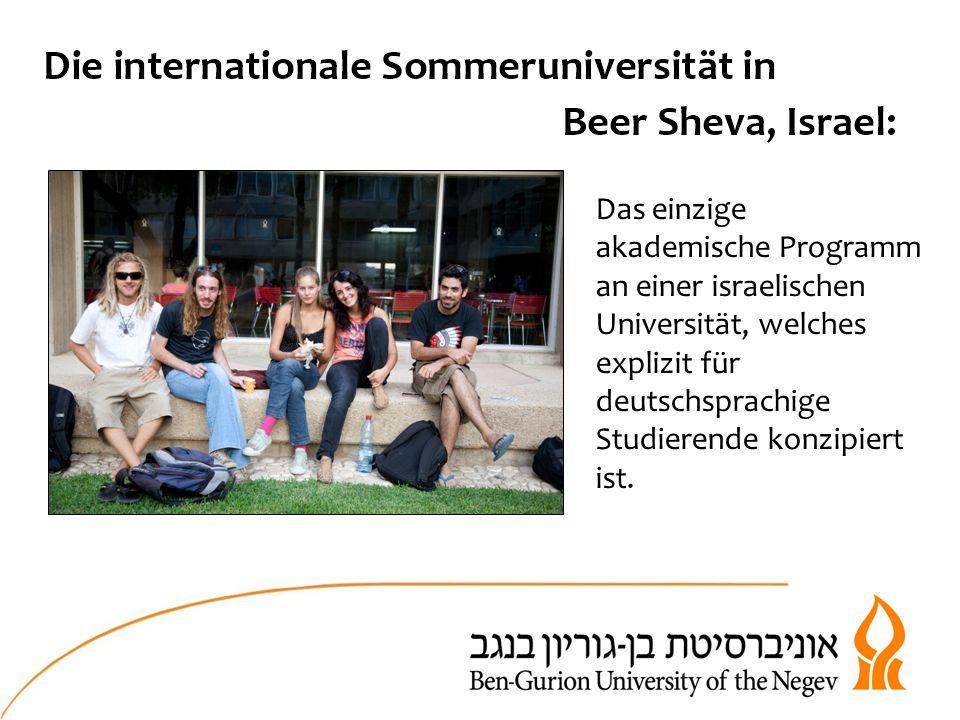 Das einzige akademische Programm an einer israelischen Universität, welches explizit für deutschsprachige Studierende konzipiert ist.