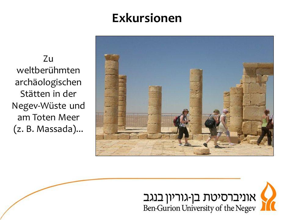 Exkursionen Zu weltberühmten archäologischen Stätten in der Negev-Wüste und am Toten Meer (z.
