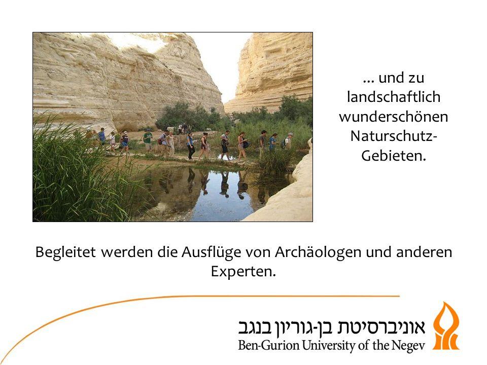 ... und zu landschaftlich wunderschönen Naturschutz- Gebieten.