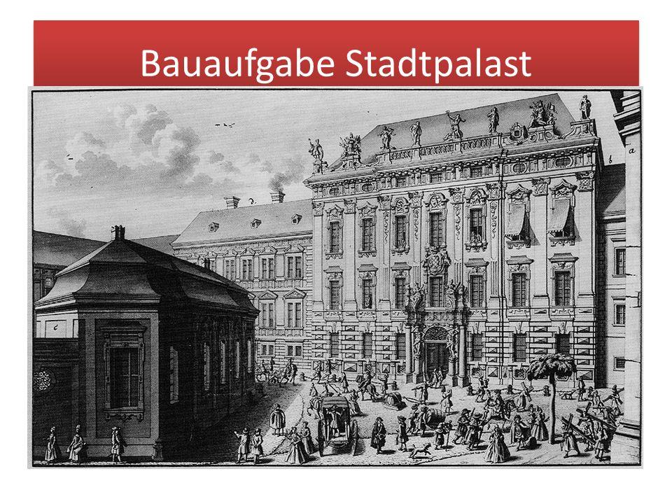 Bauaufgabe Stadtpalast 'Palatium' war ursprünglich der Name für den römischen Hügel, auf dem die Kaiserresidenzen der Antike lagen. Der Begriff wurde