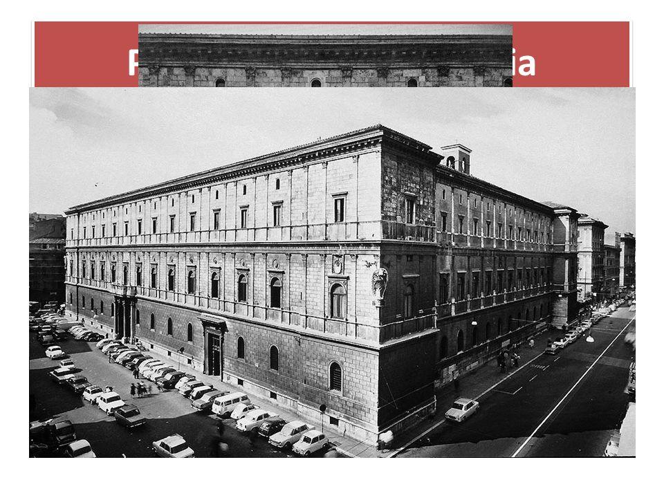Palazzo della Cancelleria 1487/88 begonnen, war die Hauptfassade bereits 1495 vollendet. Der Architekt, der vor allem Ideen des berühmten Architekten