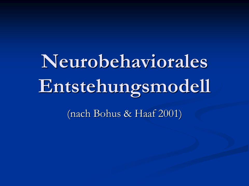 Neurobehaviorales Entstehungsmodell (nach Bohus & Haaf 2001)
