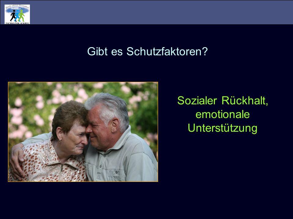 Wie wirken psychosoziale CRF.