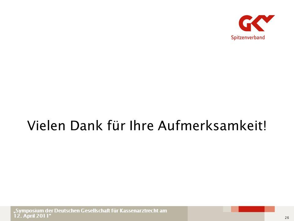 Symposium der Deutschen Gesellschaft für Kassenarztrecht am 12.