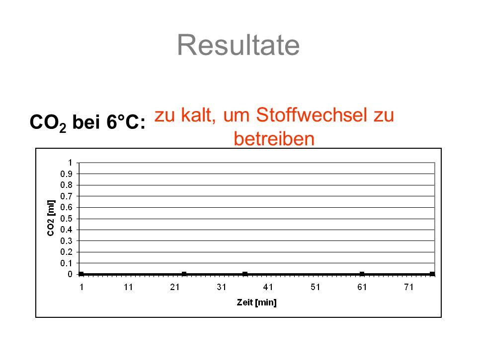 Resultate 0 min20 min35 min39 min 0 ml1.4 ml4.5 ml5 ml CO 2 bei 50°C: Messungen