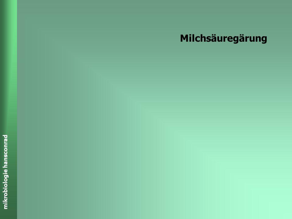 mikrobiologie hansconrad GÄRUNGEN Charakteristische Energie enthaltende Abfälle Ethanol CH 3 -CH 2 -OH Milchsäure/Lactat CH 3 CHOHCOOH Propionsäure CH