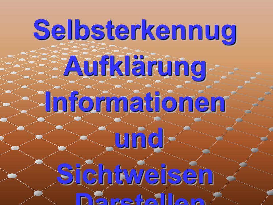 SelbsterkennugAufklärungInformationen und und Sichtweisen Darstellen SelbsterkennugAufklärungInformationen und und Sichtweisen Darstellen