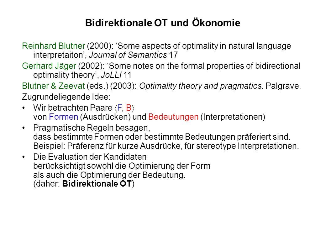 Beispiel: Blockierung der komplexen Form (a) The record is cheaper than the novel.