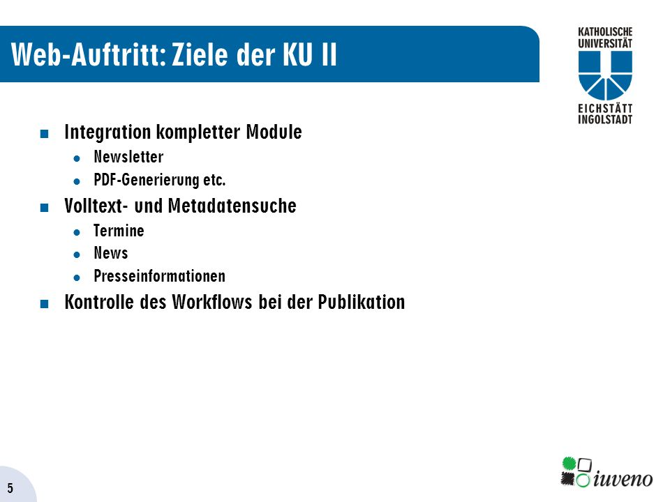 5 Integration kompletter Module Newsletter PDF-Generierung etc.