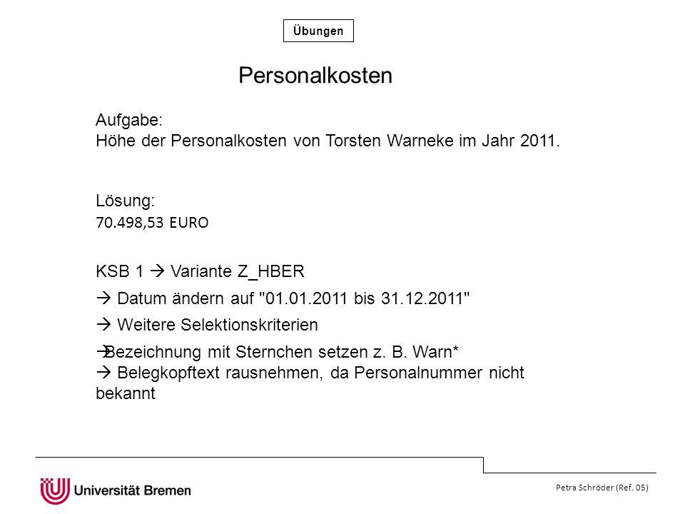 Übungen Petra Schröder (Ref.