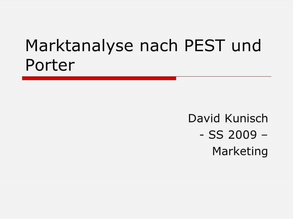 Agenda Grundlagen Instrumente PEST-Analyse Branchenstrukturanalyse nach Porter Kritische Würdigung