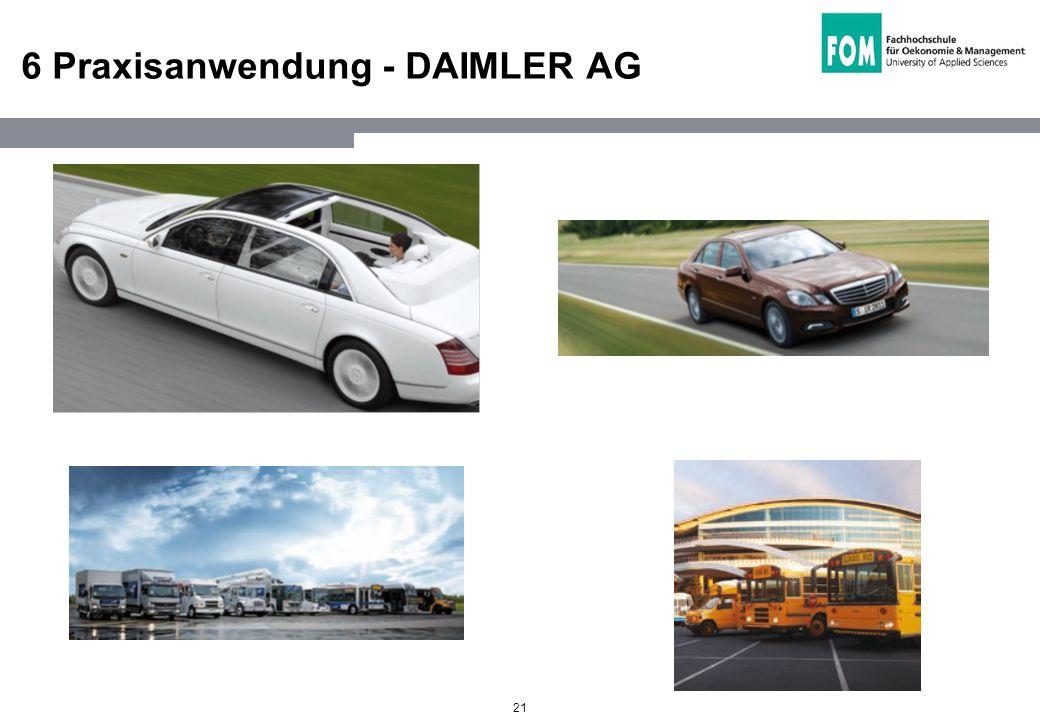 21 6 Praxisanwendung - DAIMLER AG
