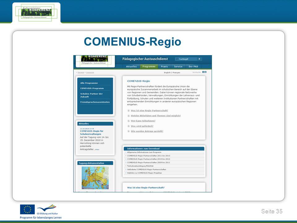 Seite 35 COMENIUS-Regio