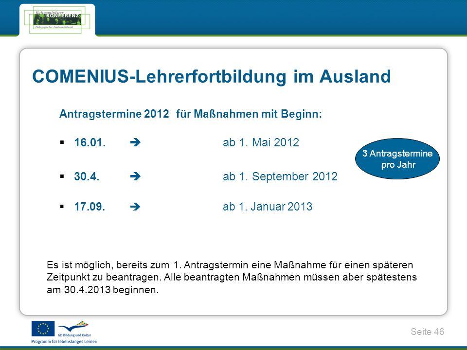 Seite 46 Antragstermine 2012für Maßnahmen mit Beginn: 16.01.