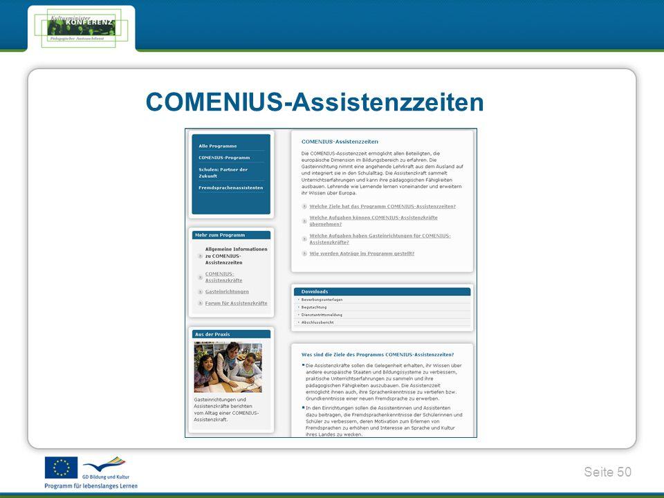 Seite 50 COMENIUS-Assistenzzeiten