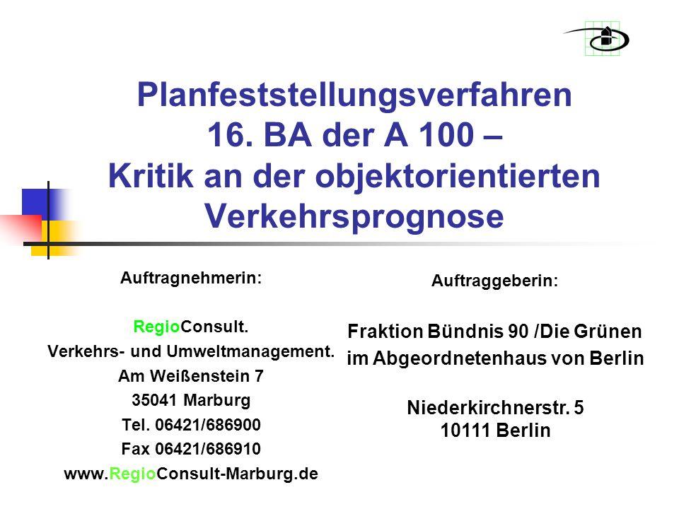 Planfeststellungsverfahren 16.