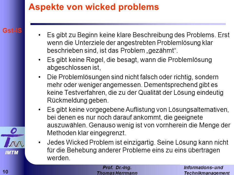 10 Informations- und Technikmanagement Prof.Dr.-Ing.