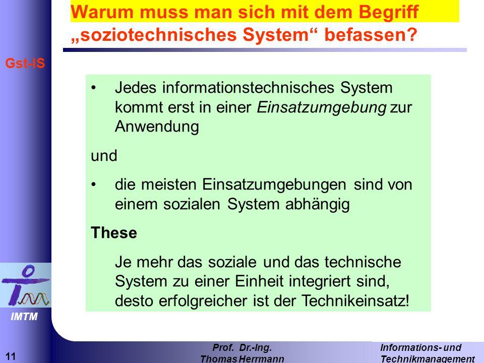 11 Informations- und Technikmanagement Prof.Dr.-Ing.