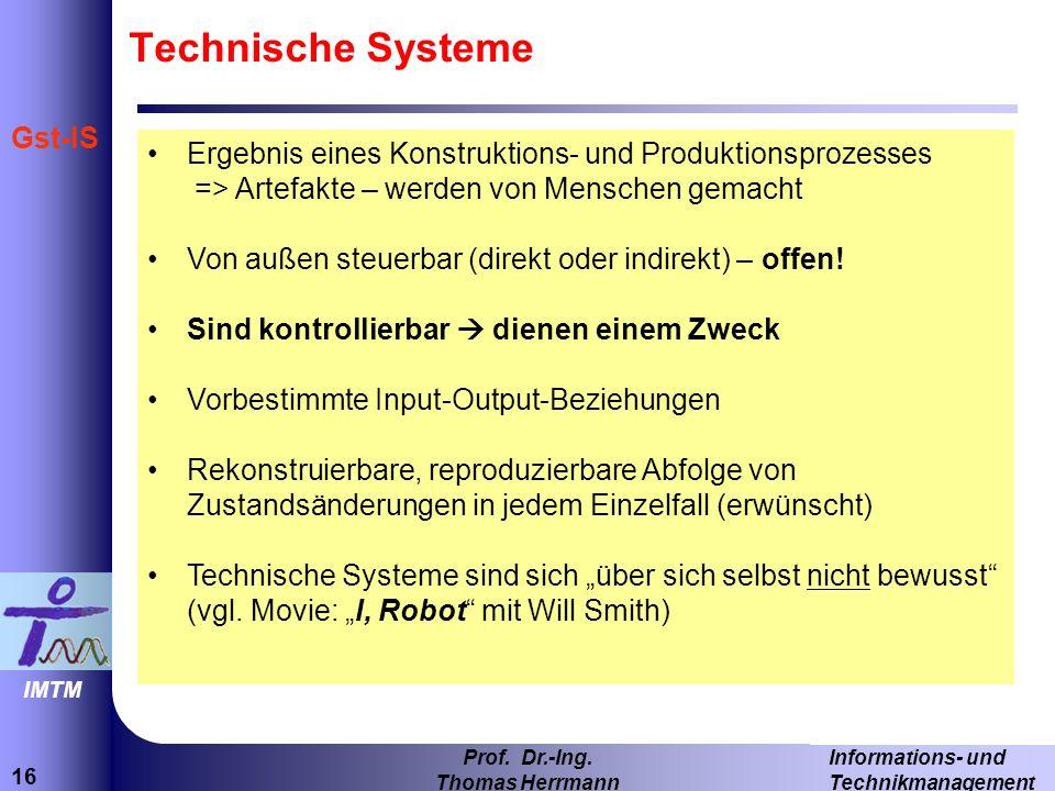 16 Informations- und Technikmanagement Prof.Dr.-Ing.