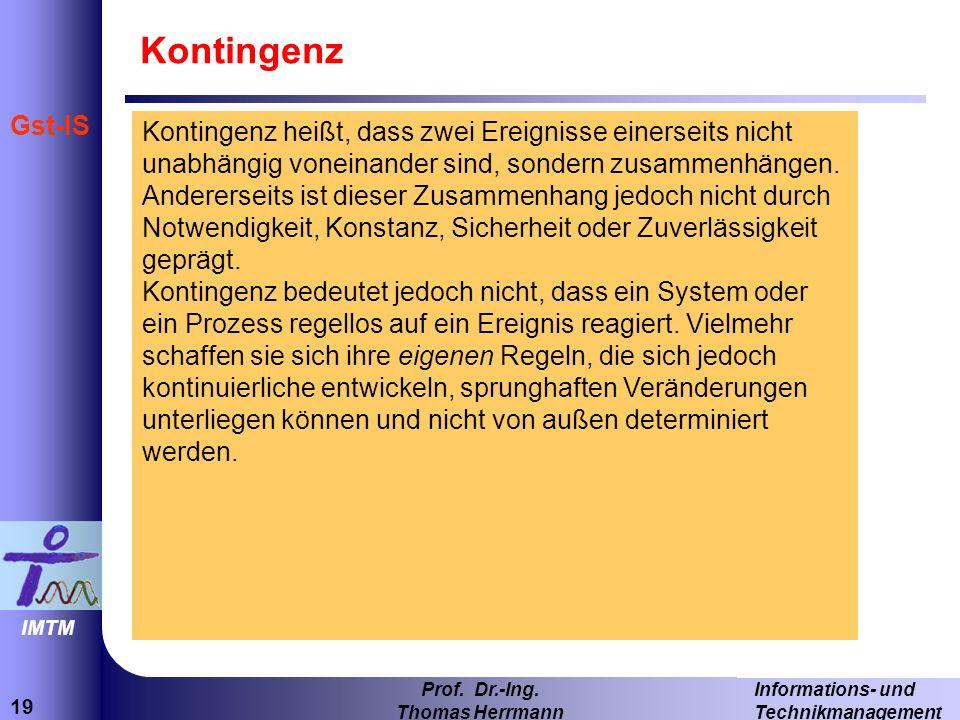 19 Informations- und Technikmanagement Prof.Dr.-Ing.