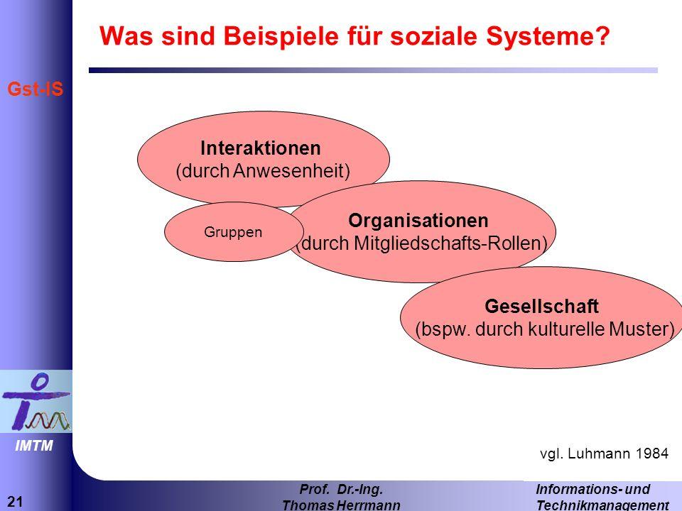 21 Informations- und Technikmanagement Prof.Dr.-Ing.