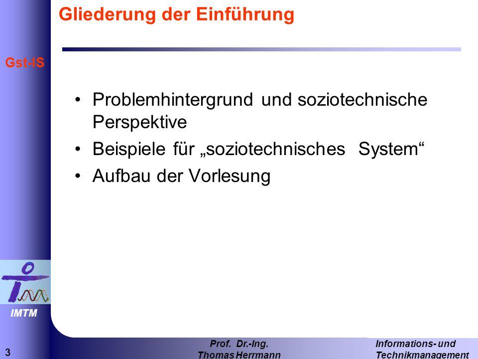 24 Informations- und Technikmanagement Prof.Dr.-Ing.